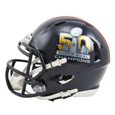 NFL Denver Broncos Super Bowl 50 Champions Riddell Speed Mini Helmet