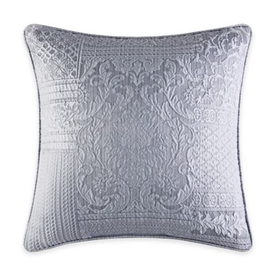 J. Queen New York™ Wilmington Patchwork Jacquard Square Throw Pillow in Chrome