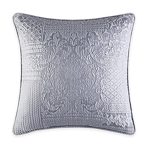 Jacquard Throw Pillows : Buy J. Queen New York Wilmington Patchwork Jacquard Square Throw Pillow in Chrome from Bed Bath ...