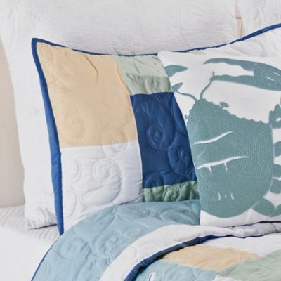 Waters Edge Standard Pillow Sham in Blue