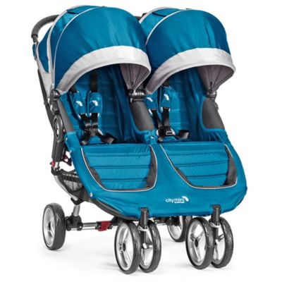 City Mini® Double Stroller in Teal/Grey