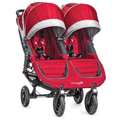 Baby Jogger® City Mini® GT Double Stroller in Crimson/Grey