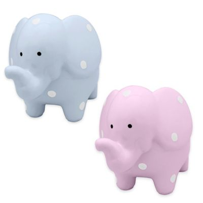 Argento Medium Ceramic Elephant Bank in Pink Dot