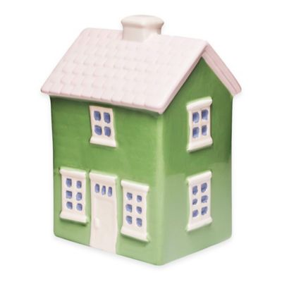 Argento Ceramic Doll House Bank in Green