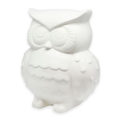 Argento Ceramic Owl Bank in White