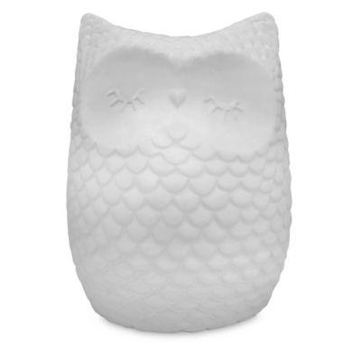 Argento Ceramic Lullabye Owl Bank in White