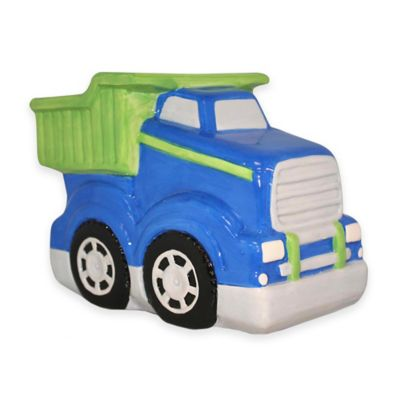 Argento Ceramic Toy Truck Bank in Blue
