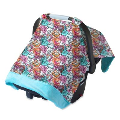 Itzy Ritzy® Cozy Happens™ Infant Car Seat Canopy and Tummy Time Mat in Watercolor Bloom