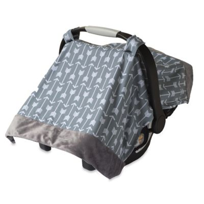 Itzy Ritzy® Cozy Happens™ Infant Car Seat Canopy and Tummy Time Mat in Swift Arrows