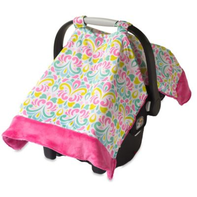 Itzy Ritzy® Cozy Happens™ Infant Car Seat Canopy and Tummy Time Mat in Brocade Splash