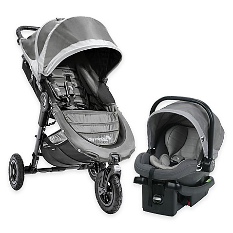Baby Jogger 174 City Mini Gt Travel System In Steel Grey