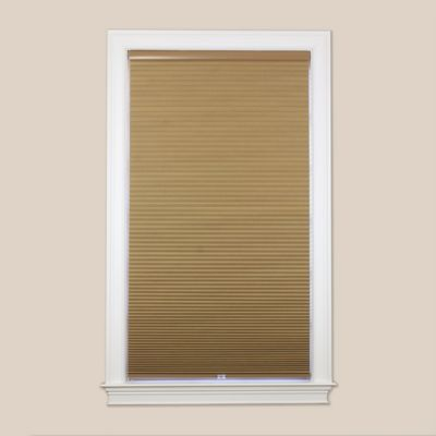Baby Blinds Cordless Blackout Cellular 72-Inch x 64-Inch Shade in Sand