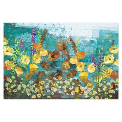 Colorful Garden 48-Inch x 32-Inch Canvas Wall Art