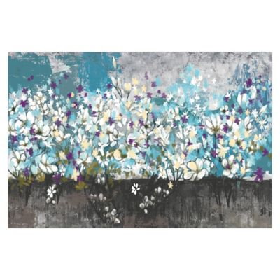 Nature's Cool Bouquet 48-Inch x 32-Inch Canvas Wall Art