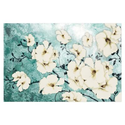 Minted Floral 36-Inch x 24-Inch Canvas Wall Art