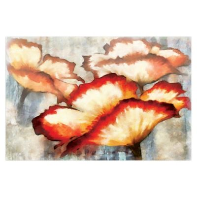 Eloquently Faded Flowers 48-Inch x 32-Inch Canvas Wall Art