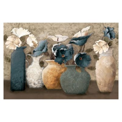 Floral Centerpiece 36-Inch x 24-Inch Canvas Wall Art