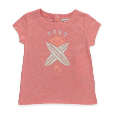 Roxy Size 6-12M Endless Summer Short Sleeve T-Shirt in Peach