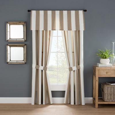 Bridge Street Fairhope 84-Inch Rod Pocket Window Curtain Panel Pair in Taupe