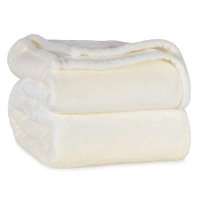 Ivory Plush Blanket