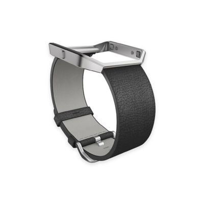 Fitbit™ Blaze™ Large Leather Accessory Band in Black