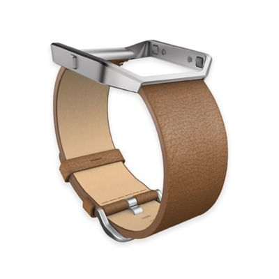 Fitbit™ Blaze™ Small Leather Accessory Band in Camel