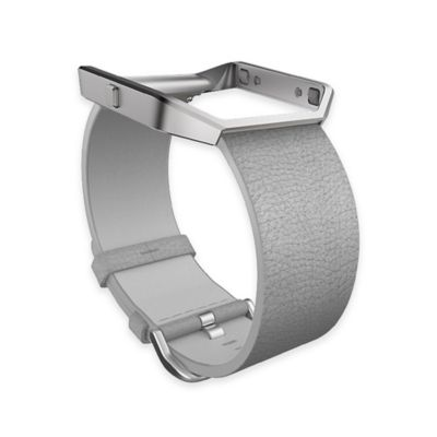 Fitbit™ Blaze™ Large Leather Accessory Band in Grey