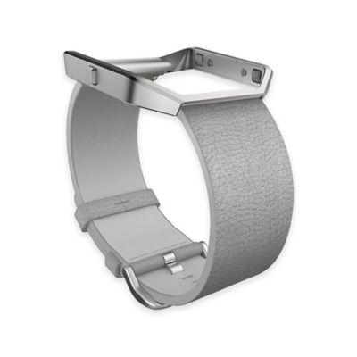 Fitbit™ Blaze™ Small Leather Accessory Band in Grey