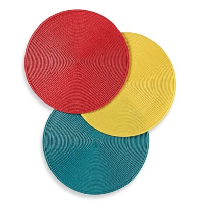 Round Placemat in Red Punch