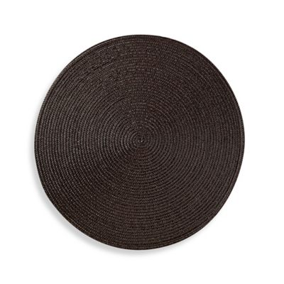 Round Placemat in Chocolate