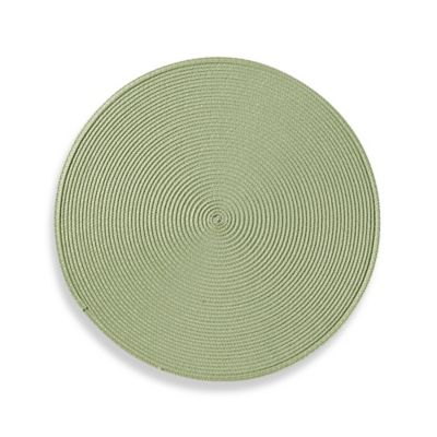 Round Placemat in Mint Green