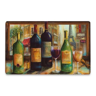 Cushy Comfort Parisian Wine 18-Inch x 30-Inch Kitchen Mat