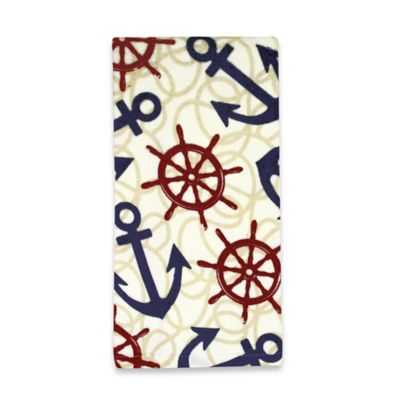Kitchensmart® Cotton Anchor and Rope Print Kitchen Towel