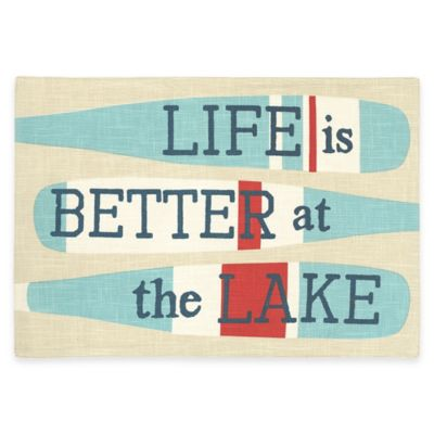 """Life Is Better At The Lake"" Placemat"