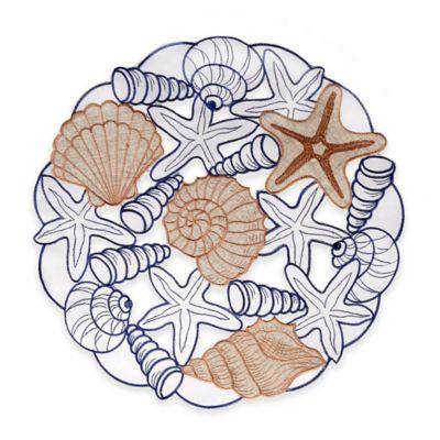 Sam Hedaya Cobb Island Embroidered Cutout Placemat