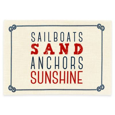 Sailboats and Sand Placemat