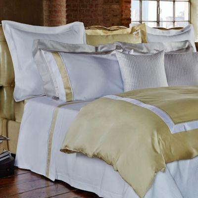 Frette At Home Arno European Pillow Sham in White/Butter