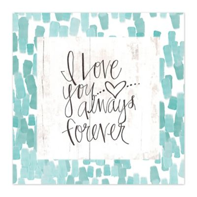 Love Forever 12-Inch x 12-Inch Canvas Wall Art
