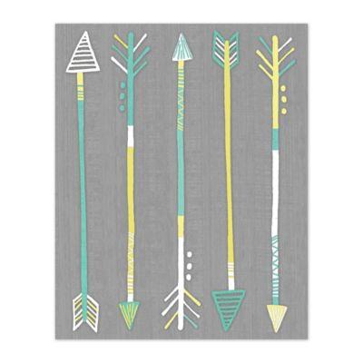 Pied Piper Creative Tribal Arrows 8-Inch x 10-Inch Canvas Wall Art