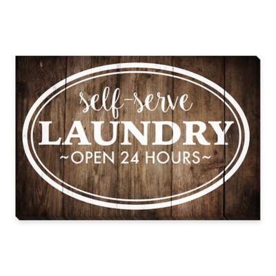 Self Serve Laundry Canvas Print Wall Art