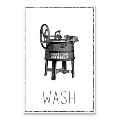 Perfection Washer Canvas Print Wall Art