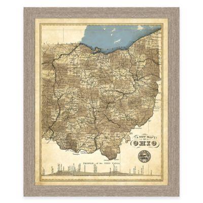 Map of Ohio Framed Print