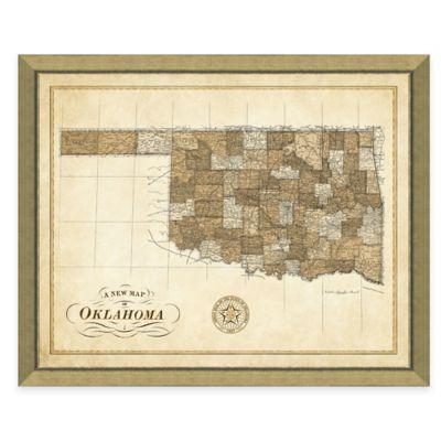 Map of Oklahoma Framed Print