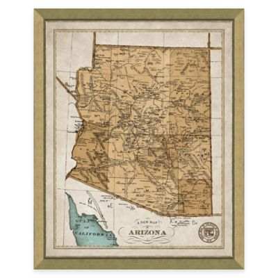 Map of Arizona Framed Print