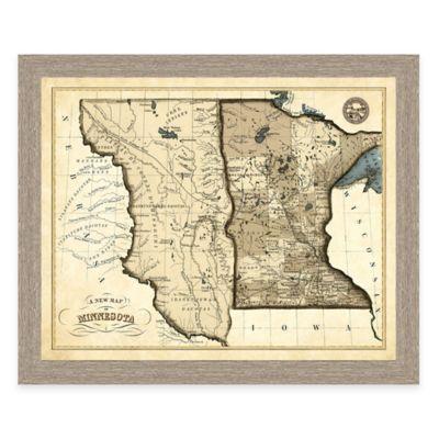 Map of Minnesota Framed Print