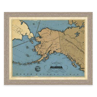Map of Alaska Framed Print