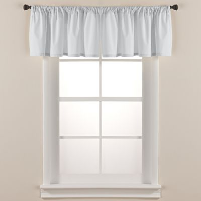 Smoothweave™ Tailored Window Valance in Chocolate