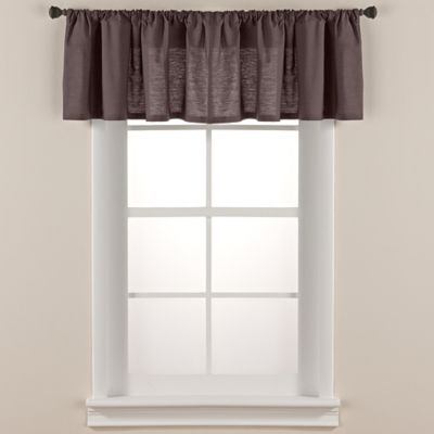 Smoothweave™ Tailored Window Valance in Grey