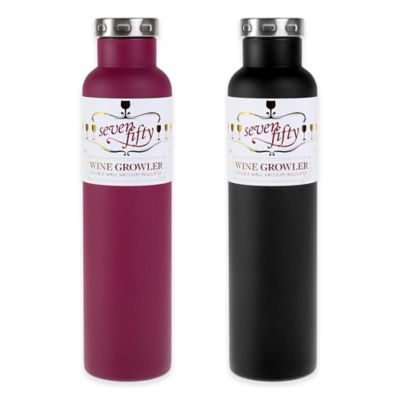 Double-Wall Vacuum Insulated Wine Growler in Stainless Steel