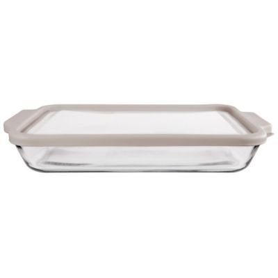 Anchor Hocking® 3-qt. Glass Baker with Pepper True Fit Lid